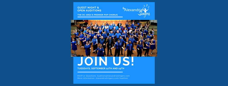 Guest Night & Open Auditions - Sep 12, 2017 | The Alexandria Singers